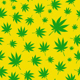 Abstract Cannabis Seamless Pattern Background Stock Photo