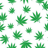 Abstract Cannabis Seamless Pattern Background Stock Photos