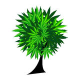 Abstract Cannabis Tree Background Vector Royalty Free Stock Photo