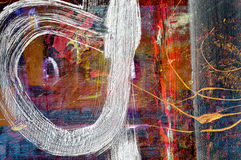 Abstract on Canvas cloth. Nice Image Of a Large scale Original Oil Painting stock illustration