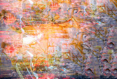 Abstract on Canvas Royalty Free Stock Image