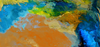 Abstract On Canvas Royalty Free Stock Images