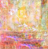 Abstract on Canvas Stock Image