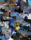 Abstract canvas. Patches of flat color and textures abstract Stock Photos