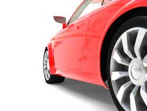Abstract car. On a white background stock photos