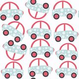 Abstract car child seamless pattern. It is located in swatch men. U, vector  image Stock Photography