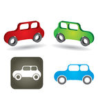 Abstract car icon Stock Photography