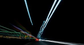 Abstract car lights Stock Images