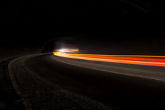 Abstract car long exposure light trails Royalty Free Stock Image