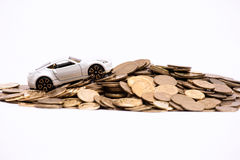 Abstract of car ownership expenses. Stock Image