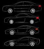 Abstract car silhouettes Royalty Free Stock Photos