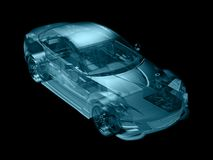 Abstract car. Car in abstract structure style,created in 3d software Royalty Free Stock Image