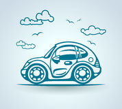 Abstract car, stylization, vector Royalty Free Stock Image