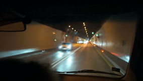 Abstract car in the tunnel trajectory stock footage