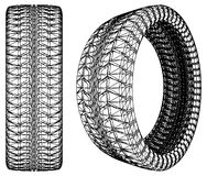Abstract Car Wheel Tire Vector 10 Stock Photo