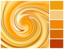 Abstract caramel background with palette color swatches Royalty Free Stock Images