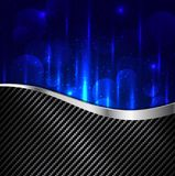 Abstract carbon fiber and light blue background Royalty Free Stock Photos