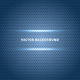 Abstract Carbon fiber surface with blue light technology dots ba Royalty Free Stock Images