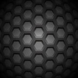 Abstract Carbon Nanostructure. Vector illustration. Hexagonal Pieces. Monochrome Molecular Scientific Background Stock Photo