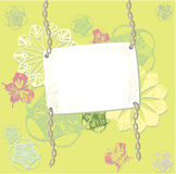 Abstract card. Abstract grunge card with butterflys Royalty Free Stock Photos
