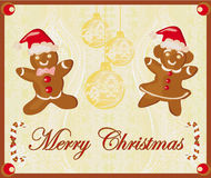 Abstract card with Christmas gingerbread Stock Photo