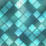 Abstract card computer pattern on green matrix Stock Images