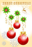 Abstract card design of christmas ball concept, decoration objects - vector eps10 Stock Photo