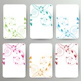 Abstract card with floral background Royalty Free Stock Photo