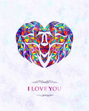 Abstract card with heart. I love you. Vector background, EPS10 Stock Image