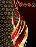 Abstract card with poker elements. Vector illustration vector illustration