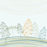 Abstract card with stylized forest Stock Photos