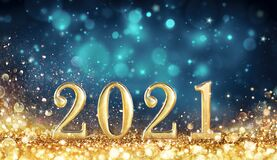 Free Abstract Card With Colors Trend - Happy New Years 2021 Stock Image - 204240531