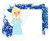 Free Abstract Card With Sweet Blond Angel Praying Royalty Free Stock Images - 161352969