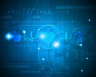 Abstract cardiogram Stock Images