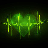 Abstract cardiogram Stock Foto's