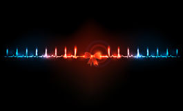 Abstract cardiogram Royalty Free Stock Photos