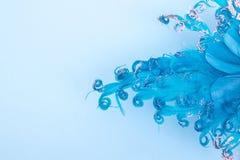 Abstract carnival mask. Carnival mask, abstract blue background stock photography