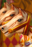 Abstract carousel horses Stock Image