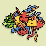 Abstract cartoon art design. Colorful abstract cartoon Royalty Free Stock Photo