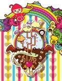 Abstract cartoon C Royalty Free Stock Photo