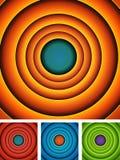 Abstract Cartoon Circles Background Set Royalty Free Stock Photography