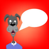 Abstract cartoon dog talking eps 10 Royalty Free Stock Photography