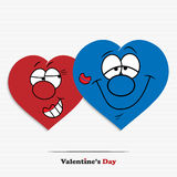 Abstract cartoon hearts Royalty Free Stock Photography