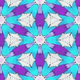 Abstract  cartoon kaleidoscope. Abstract art- cartoon kaleidoscope. Sacred geometry- ornament mosaic. Mandala- artistic illustration Stock Photography