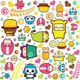 Abstract cartoon pattern Royalty Free Stock Photography
