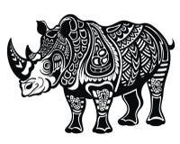 Abstract Cartoon Rhinoceros Vector Illustration