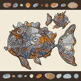 Abstract Cartoon Sea Fish. Royalty Free Stock Image