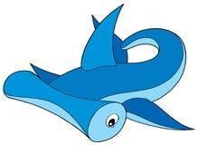 Abstract cartoon shark stock photo