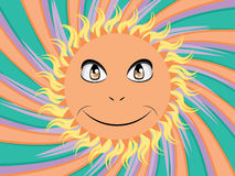 Happy sun face Royalty Free Stock Photography