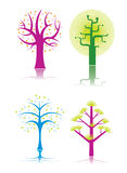 Abstract Cartoon trees Royalty Free Stock Image